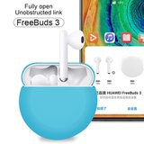 Huawei FreeBuds 3 siliconen hoesje - liquid series - zwart_