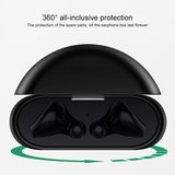 Huawei FreeBuds 3 siliconen hoesje - storage series - Met bevestigingsclip - wit_