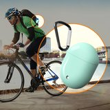 Google Pixel Buds 2 TPU siliconen hoesje - egg shock series - Met bevestigingsclip - oranje_