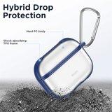 AirPods Pro siliconen hoesje ESR Hybrid TPU series - Met bevestigingsclip - Blauw_