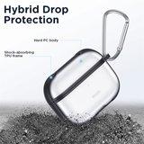 AirPods Pro siliconen hoesje ESR Hybrid TPU series - Met bevestigingsclip - Zwart_