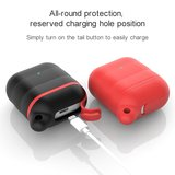 AirPods 1/2 hoesje siliconen waterproof series - soft case - zwart + rood_