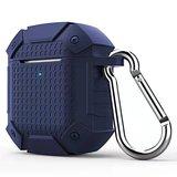 AirPods 1/2 hoesje schokbestendige harnas - soft case - donkerblauw _