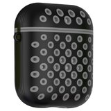 AirPods 1/2 hoesje siliconen holow Series - hard case - zwart / grijs - UV bescherming_
