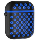 AirPods 1/2 hoesje siliconen holow Series - hard case - zwart / blauw - UV bescherming_