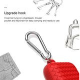 AirPods 1/2 hoesje siliconen Braided Series - soft case - rood_