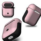 AirPods 1/2 hoesje soft grip - hard case - roze - Schokbestendig_