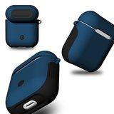 AirPods 1/2 hoesje soft grip - hard case - blauw - Schokbestendig_