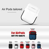 AirPods 1/2 hoesje soft grip - hard case - zwart - Schokbestendig_