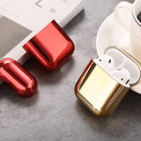 AirPods 1/2 hoesje Electro series - hard case - Zilver - Schokbestendig_