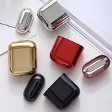 AirPods 1/2 hoesje Electro series - hard case - Rosé goud - Schokbestendig_