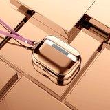 AirPods Pro Glans - hard case - Rosé goud_