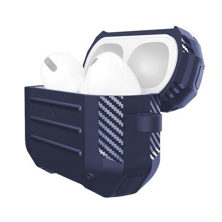AirPods Pro carbon fiber hoesje - Blauw
