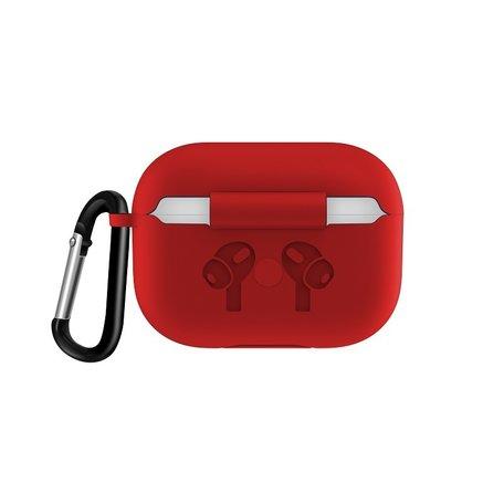 AirPods Pro siliconen hoesje met karabiner haak - Rood