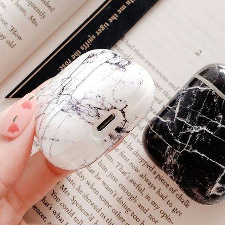 AirPods 1/2 hoesje Marble series - hard case - Marble zwart - Schokbestendig