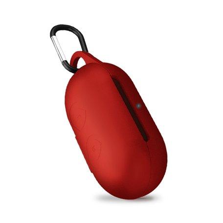 Samsung Galaxy Buds siliconen hoesje - storage series - Met bevestigingsclip - rood