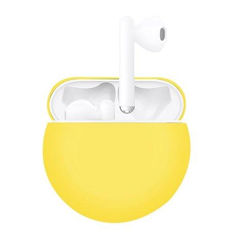 Huawei FreeBuds 3 siliconen hoesje - liquid series - geel