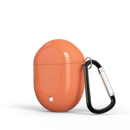 Google Pixel Buds 2 TPU siliconen hoesje - egg shock series - Met bevestigingsclip - oranje