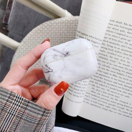 AirPods Pro hoesje Marble series - hard case - Marble wit - Schokbestendig