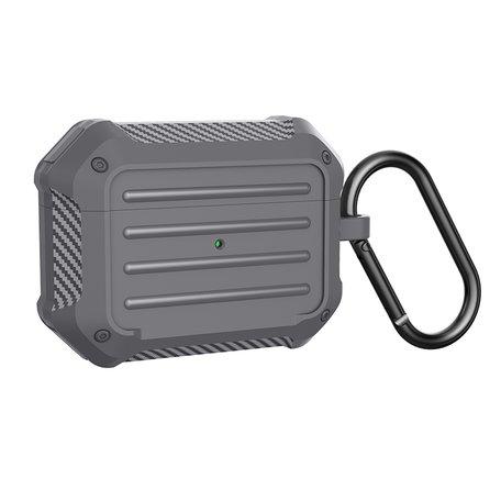 AirPods Pro carbon fiber hoesje - Grijs
