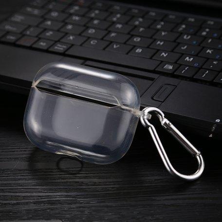 AirPods Pro Transparant hoesje - Met bevestigingsclip