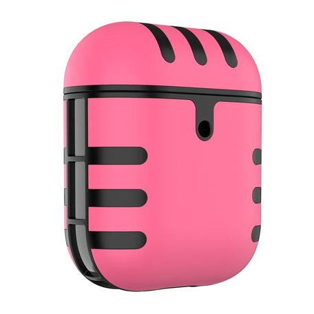AirPods 1/2 hoesje siliconen + hard plastic Cat series - roze