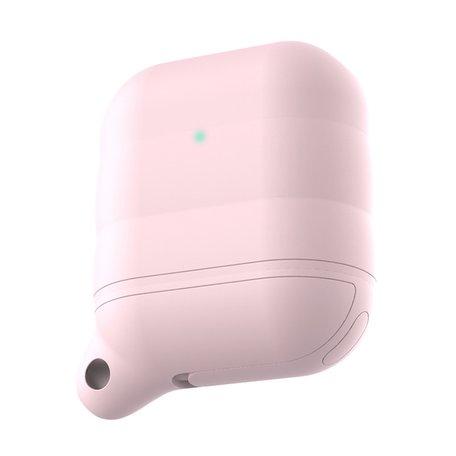 AirPods 1/2 hoesje siliconen waterproof series - soft case - licht roze