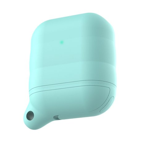 AirPods 1/2 hoesje siliconen waterproof series - soft case - mint groen