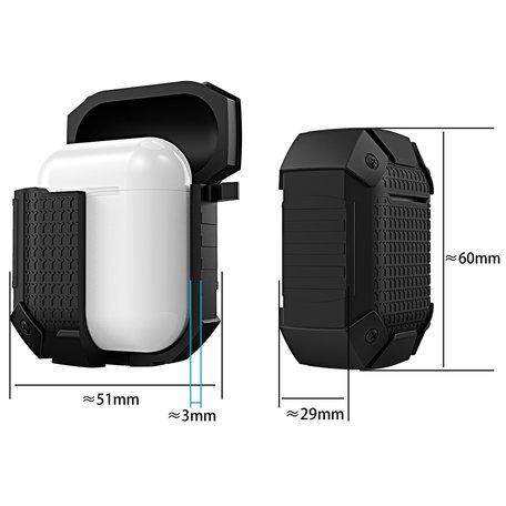 AirPods 1/2 hoesje schokbestendige harnas - soft case - zwart