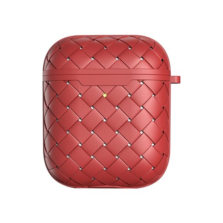 AirPods 1/2 hoesje PU Wave Series - soft case - rood