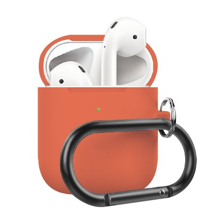 AirPods 1/2 hoesje siliconen chargebox Series - soft case - perzik - UV bescherming