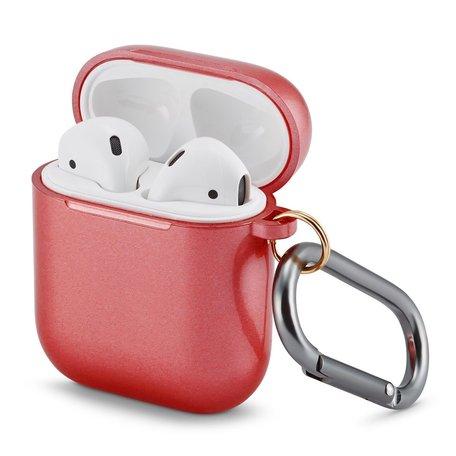 AirPods 1/2 hoesje Metallic Series - soft case - Rood - UV bescherming