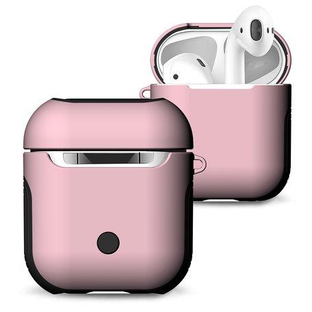 AirPods 1/2 hoesje soft grip - hard case - roze - Schokbestendig