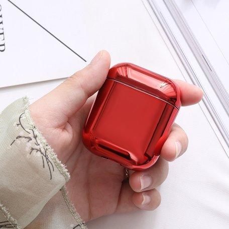 AirPods 1/2 hoesje Electro series - hard case - Rood - Schokbestendig