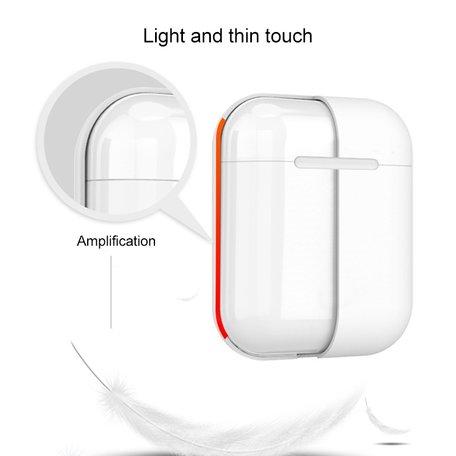 AirPods 1/2 hoesje Liquid series - Siliconen - Wit - Schokbestendig