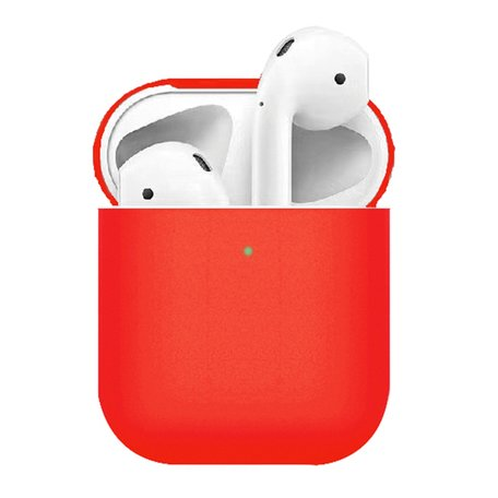 AirPods 1/2 siliconen slim fit hoesje - Rood