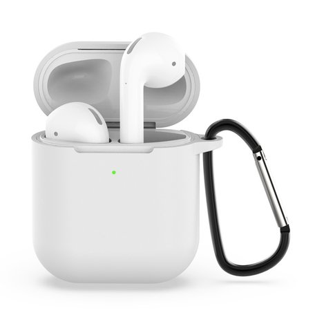 AirPods siliconen hoesje voor AirPods 1/2 - Transparant + handige clip