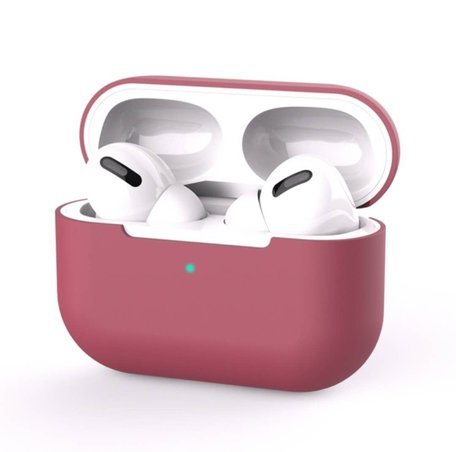 AirPods Pro Solid series - Siliconen hoesje - Wijnrood