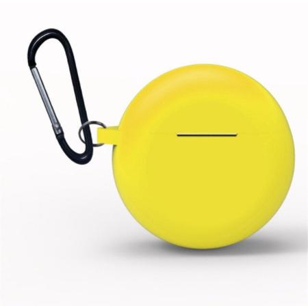 Huawei FreeBuds 3 siliconen hoesje - storage series - Met bevestigingsclip - geel