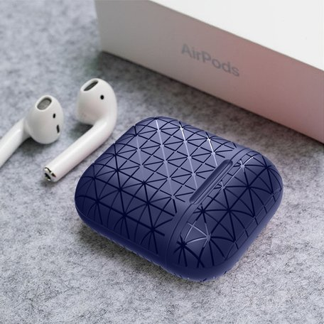 AirPods 1/2 hoesje triangle series - soft case - blauw
