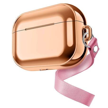 AirPods Pro Glans - hard case - Rosé goud