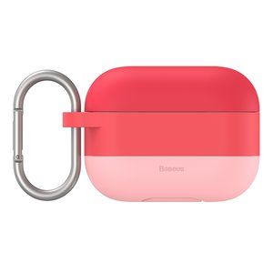 Baseus AirPods Pro siliconen hoesje - Roze