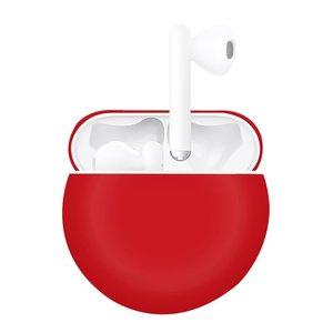 Huawei FreeBuds 3 siliconen hoesje - liquid series  - rood