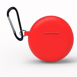 Huawei FreeBuds 3 siliconen hoesje - storage series - Met bevestigingsclip - rood