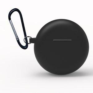 Huawei FreeBuds 3 siliconen hoesje - storage series - Met bevestigingsclip - zwart