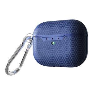 AirPods Pro siliconen hoesje Football series - Met bevestigingsclip - Blauw