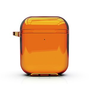 AirPods 1/2 hoesje Fluorescent series - hard case - oranje
