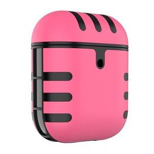 AirPods 1/2 hoesje siliconen + hard plastic Cat series - roze