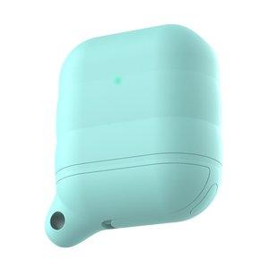 AirPods 1/2 hoesje siliconen waterproof series - soft case - mint groen