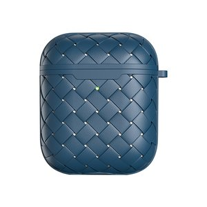 AirPods 1/2 hoesje PU Wave Series - soft case - blauw